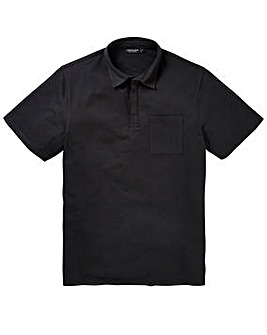 Capsule Black Stretch Jersey Polo Long