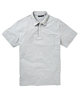 Capsule Grey Stretch Jersey Polo Long