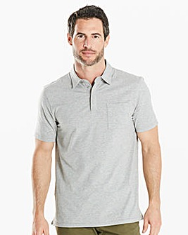 Capsule Grey Stretch Jersey Polo Regular