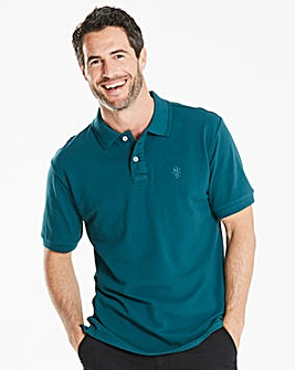 Capsule Teal Embroidered Polo Long