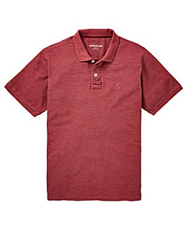 Capsule Red Marl Embroidered Polo Long