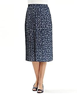 Print Pleat Skirt length 27