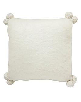 Mohair Pom Pom Cushion
