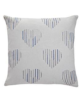 Stripped Back Hearts Cushion