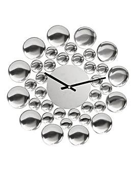 Bubbles Metal Wall Clock
