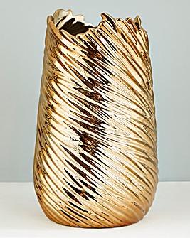 Ceramic Gold Metallic Vase