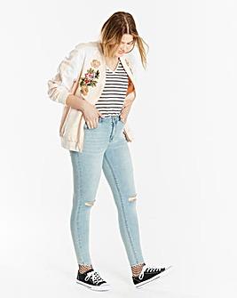 Chloe Ripped Knee Skinny Jeans Short