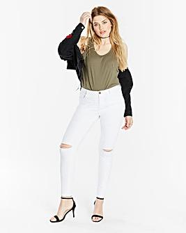 Chloe Ripped Knee Skinny Jeans Long