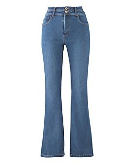 Blue Shape & Sculpt Bootcut Jeans Long