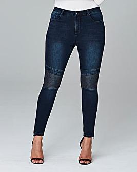 Chloe Skinny Biker Jeans Reg