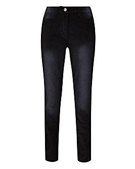Cord Slim Leg Jeans Long