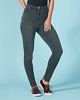 Sophia Supersoft Fly Front Jeggings Shor