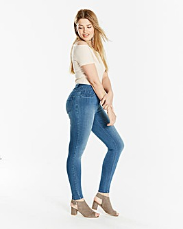 Sophia Supersoft Fly Front Jegging Short