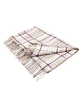 Lorraine Kelly Check Fringe Throw