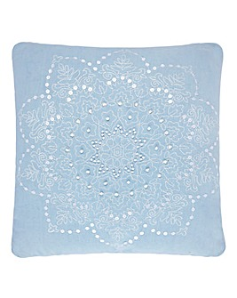 Lorraine Kelly Blue Star Cushion
