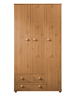 Aspen 3 Door 2 Drawer Wardrobe