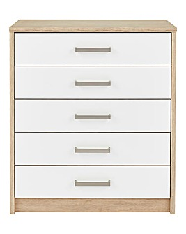 Canyon Gloss 5 Drawer Chest