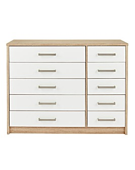 Canyon Gloss 5 plus 5 Drawer Chest