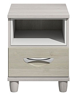 Athens 1 Drawer Bedside Table with Light