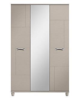 Athens 3 Door Wardrobe with Mirror