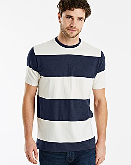Jacamo Block Stripe T-Shirt Reg