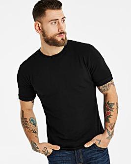 Jacamo Pique Muscle Fit T-Shirt Regular