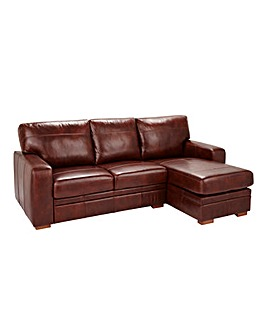Salibsury Leather Right Hand Chaise