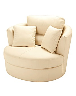 Napoli Leather Swivel Chair