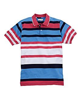 WILLIAMS & BROWN Stripe Polo Shirt