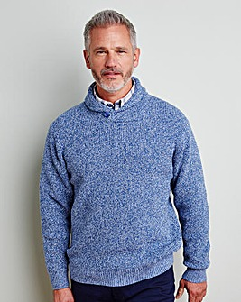 WILLIAMS & BROWN Shawl-Neck Jumper