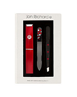 Jon Richard Red tweezer set