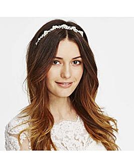 Alan Hannah pearl blossom halo headband