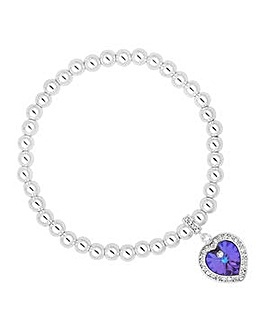 Jon Richard Purple heart bracelet
