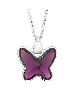 Jon Richard Lilac butterfly necklace