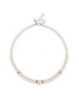 Jon Richard cream pearl rondel necklace
