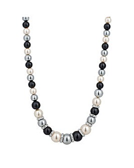 Jon Richard pearl and crystal necklace