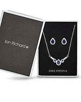 Jon Richard Blue peardrop jewellery set