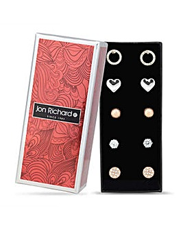 Jon Richard multi shape earrings