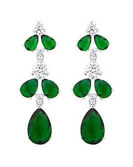 Jon Richard navette drop earring