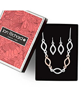 Jon Richard navette necklace set