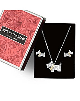 Jon Richard scotty dog jewellery set