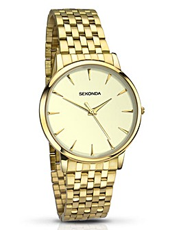 Sekonda Gents Gold Tone Bracelet Watch
