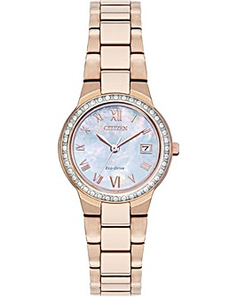 Citizen Ladies Eco Drive Rose Tone Watch