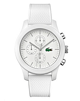 Lacoste Gents White Silicon Watch