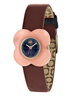 Orla Kiely Ladies Pink Flower Case Watch