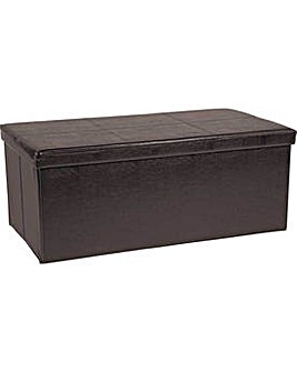 XL Ottoman with Stitching Detail - Brown