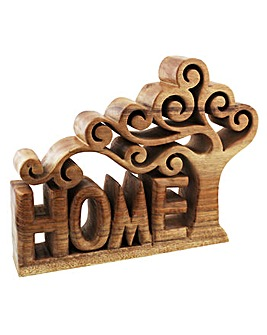 Home Plaque With Cut Out Tree