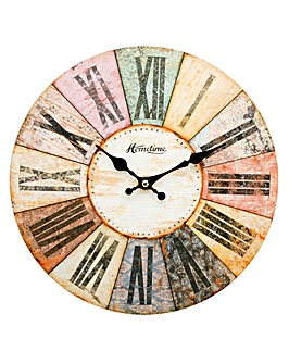 Multi Colour Wooden Wall Clock