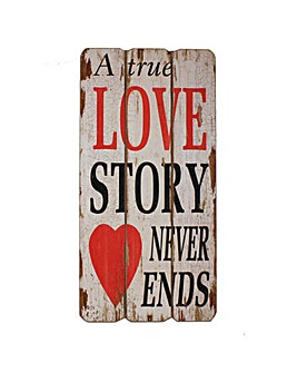 Love Story Wooden Wall Plaque
