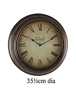 Antique Style Bronze Wall Clock